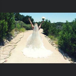 Oleg Cassini champagne/ivory wedding dress